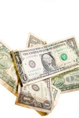 Papiers peints Affiche vintage One dollar notes falling