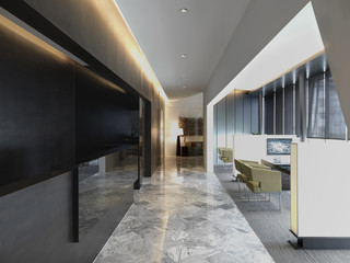 Conference areas in modern office building