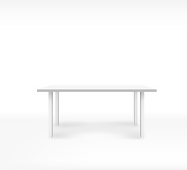 Empty white top table on isolated background. Template desk