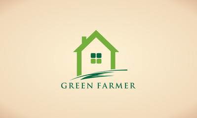 green farmer landscape logo