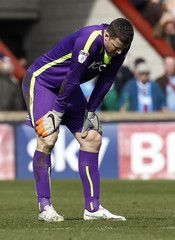 Bradford City's Colin Doyle looks dejected