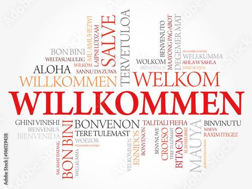 quotwillkommen welcome in german word cloud in different