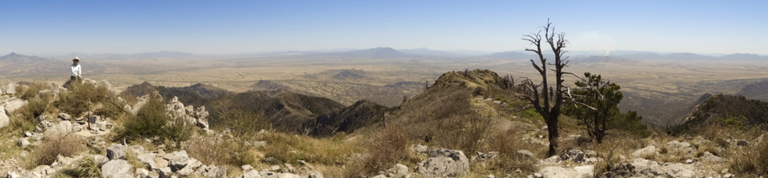An Aerial Panorama of Sonora, Mexico, from Miller Peak