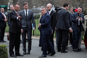 Denmark's Prime Minister Lars Lokke Rasmussen leaves after a meeting with U.S. President Donald Trump at the White House in Washington, U.S.