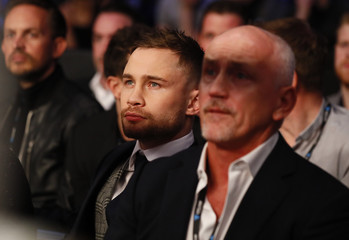 Carl Frampton and Barry McGuigan ringside
