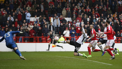 Derby's Matej Vydra scores their first goal