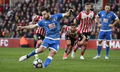 Bournemouth's Harry Arter misses a penalty