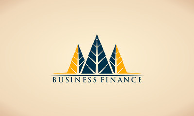 triangle abstract tree pine symbol business finance