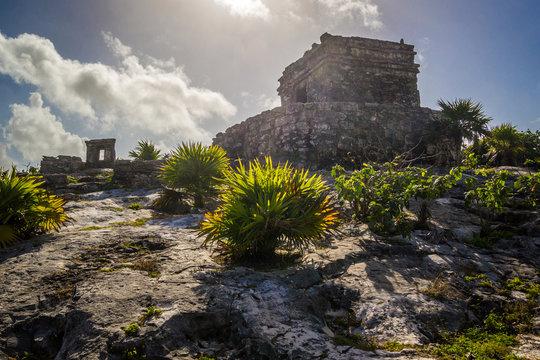 Tulum Ancient Maya Archeological Site in Yucatan Mexico