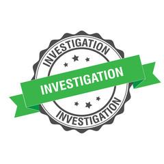 Investigation stamp illustration