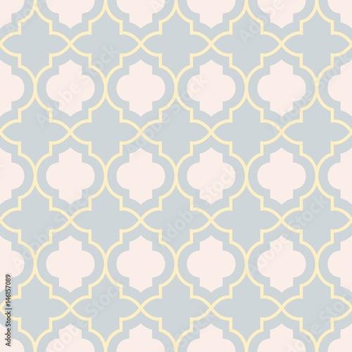 "Trellis Background Wallpaper: ""Gray And Yellow Traditional Geometric Quatrefoil Trellis"
