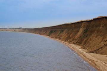 Wild beach sea waves coastline