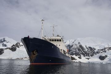 Vessel in Antarctic sea