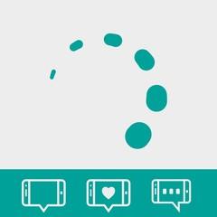 loading icon stock vector illustration flat design