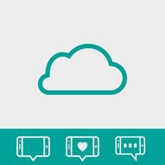 cloud icon stock vector illustration flat design