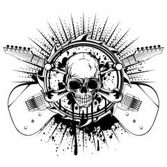 guitars skull_var 16