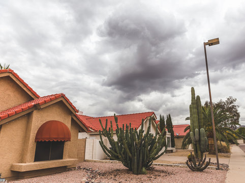 Storm Clouds Over Scottsdale Neighborhood