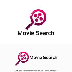 Modern film / Movie Search Logo designs symbol