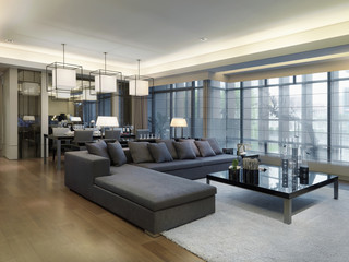 Large sectional sofa in modern living room