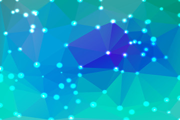 Turquoise blue purple geometric background with lights