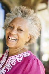 Black woman laughing