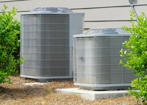 A/C units connected to residential house