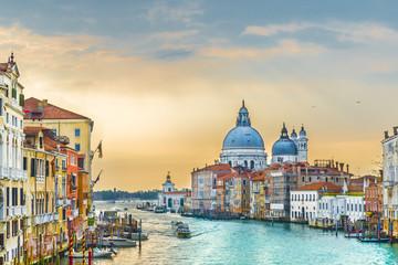 Wall Mural - Grand Canal and Basilica Santa Maria della Salute, Venice, Italy.
