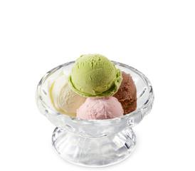 アイスクリーム(バニラ、チョコ、ストロベリー、抹茶)