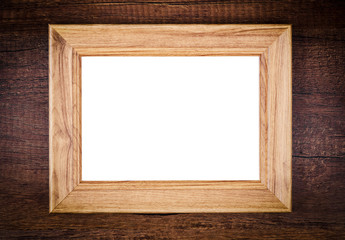 Vintage of blank wooden photo frame