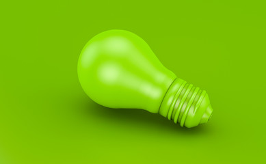 Grüne Glühbirne oder Lampe - Konzept Ökostrom oder erneuerbar Energie