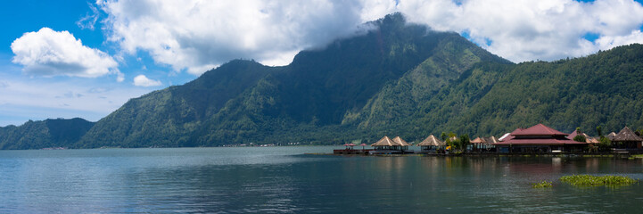 Lake Batur, Danau Batur is located in mount Batur caldera, Bali, Indonesia.