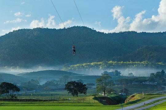 Zipline,adventure.