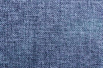 Blue fabric closeup pattern background.