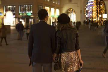 Young couple going out - Friday Night