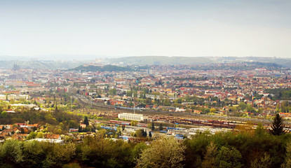 Beautiful panorama of Brno city. Czech Republic.
