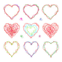 The drawn  heart  for  Mother's Day, Valentine's Day or weddings