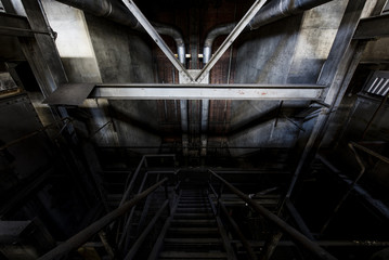 Wide View of Abandoned Power Plant in New York