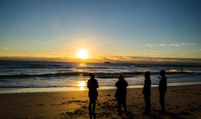 Miami Beach Sunrise with Friends