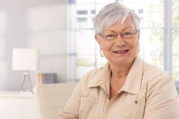 Closeup portrait of mature woman