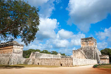 The Great Ballcourt complex at Chichen Itza, Mayan archaeological site in Mexico