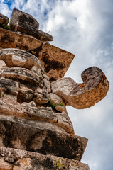 The Great God Chac at the Nunnery in Chichen Itza, Mexico