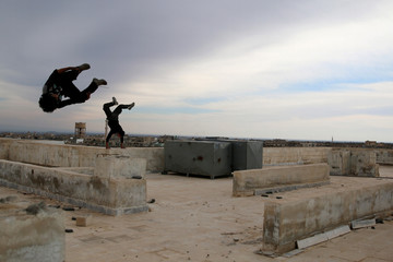 The Wider Image: Syrian youth find freedom in Parkour