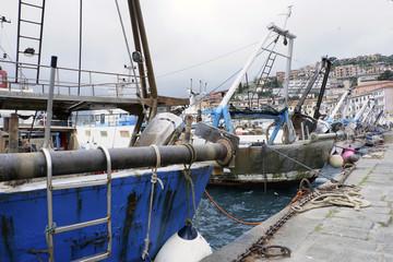 Barche da pesca ormeggiate al porto