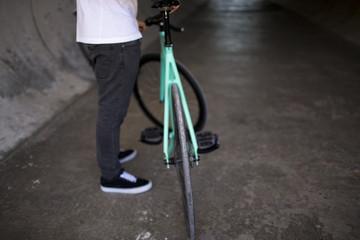 Details of fixed bike