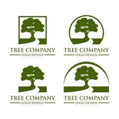 Tree Logo Design Vector Template