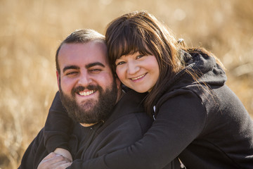 Portrait of smiling Caucasian couple