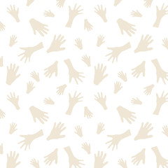 Cave Painting Seamless Pattern. Hand paintings background.