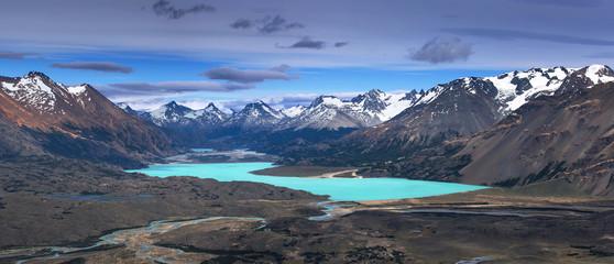 View from Mount Leon to lake Belgrano, Perito Moreno National Park, Patagonia, Argentina
