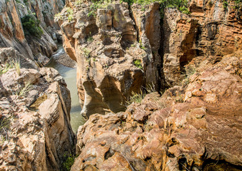 Landscape at the Blyde River Canyon, Bourke's Luck Potholes