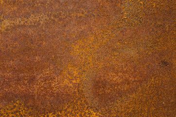 Rust on an old sheet of metal texture